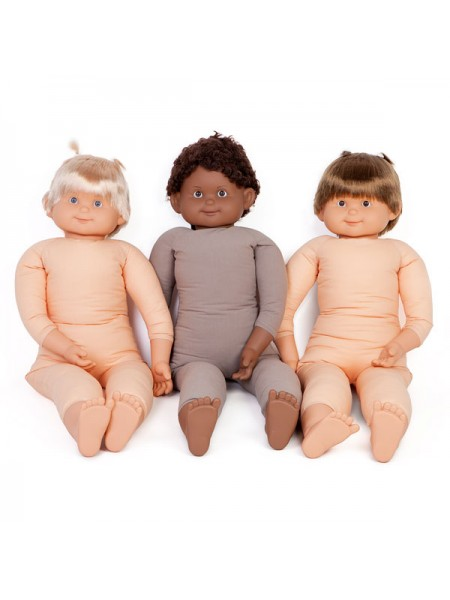 85cm Fully Weighted Caucasian Doll (brown hair)