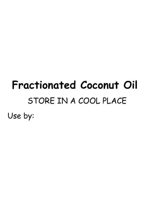 Self-Adhesive Fractionated Coconut Oil Labels (Pk of 10)