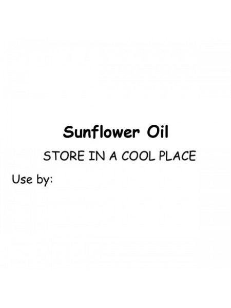 Self-Adhesive Sunflower Oil Labels (Pk of 10)